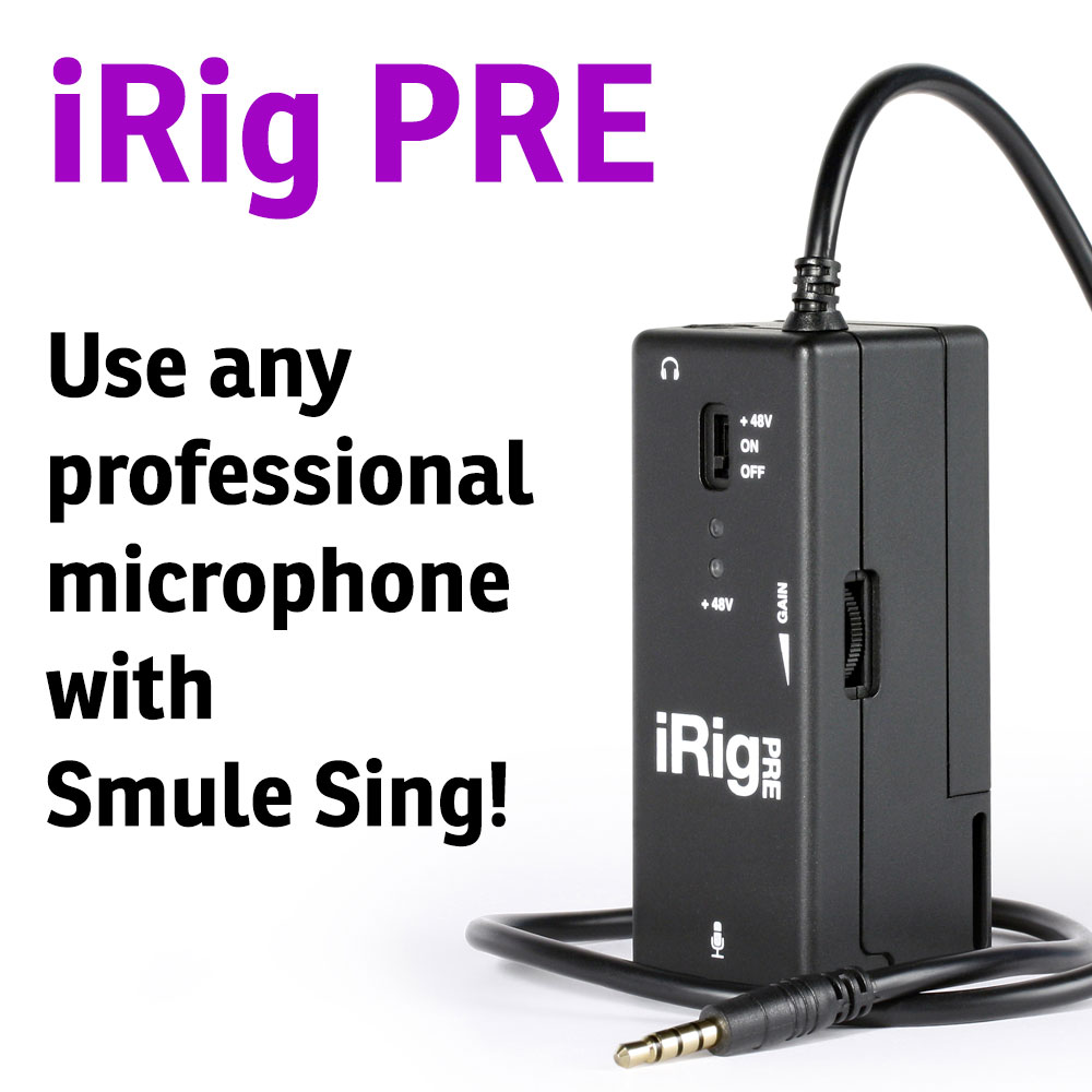 Use Smule with any XLR Microphone