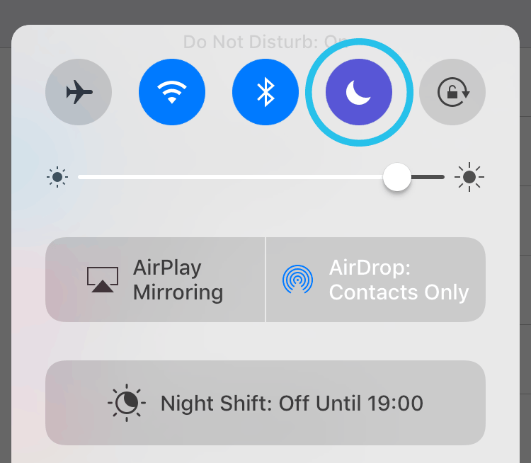 How can I stop iOS notifications from popping up while