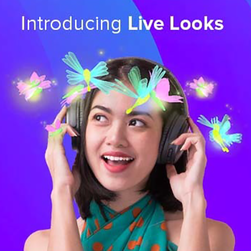 Smule launches Live Looks filter - The Smule Sing! app community
