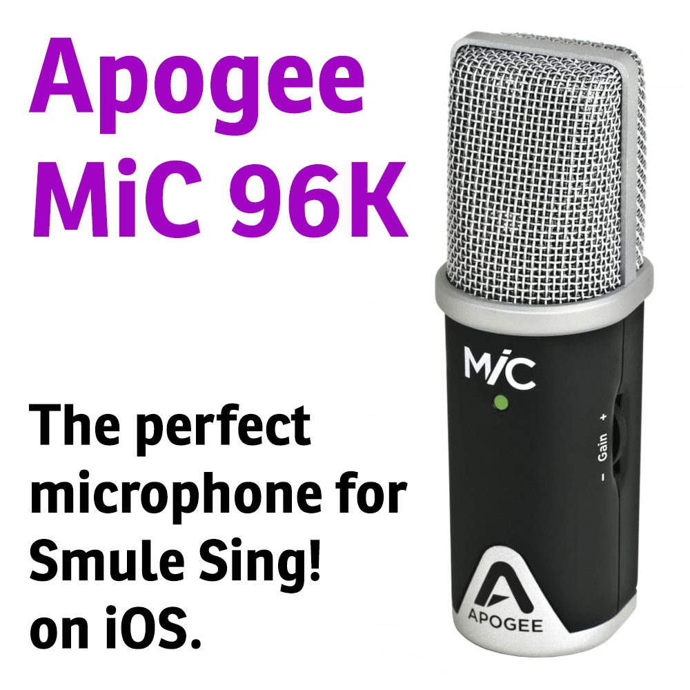 The perfect microphone for Smule on iOS.